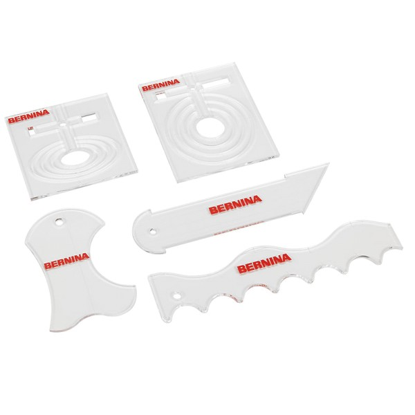 Bernina Formschablonen-Set (5 tlg./ 6 mm Plexiglas)